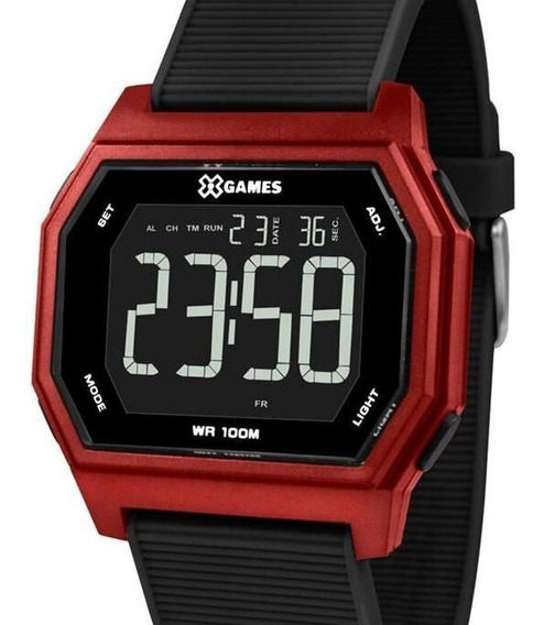Relógio X-games Masculino Digital Vermelho - Xgppd111 Pxpx