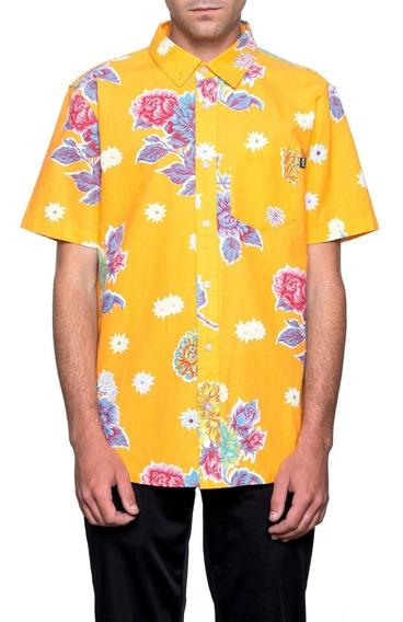 Huf Botanica Floral Camisa De Botones