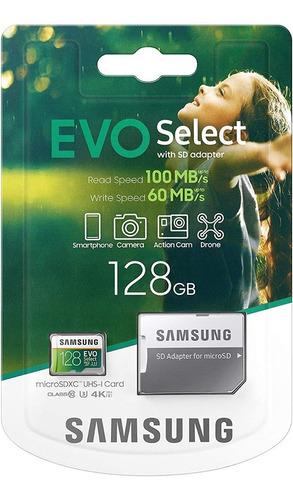 Microsd Samsung Evo Plus 128gb, 100mbps, Clase 10 (30)