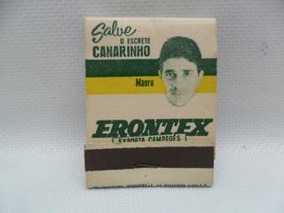 Coleção De Caixa De Fósforos Copa 1962 Mauro. Frete Grátis.