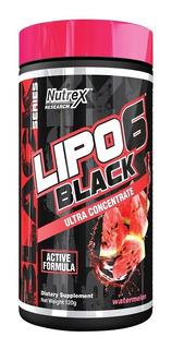 Lipo 6 Black Em Pó 120g Nutrex Termo Diurético Melancia