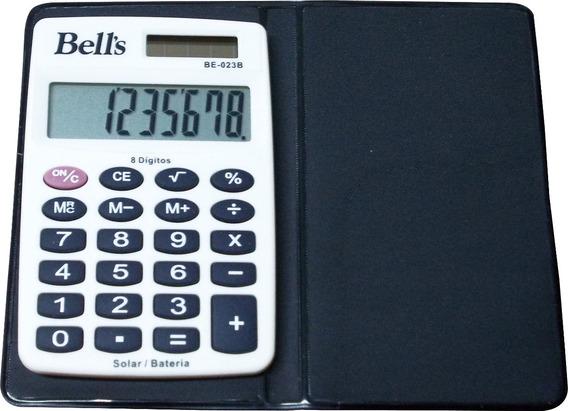 Calculadora De Bolso Bells Be-023b 8 Dígitos Com Capa