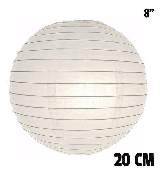 10 Pantallas Chinas 20cm 8´´ Blancas Linterna Lámpara Papel