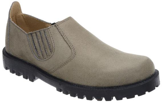Sapato Camurça Sintético Abotinado Fearnothi