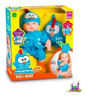 Boneca Meu Bebê Galinha Pintadinha Mini - Roma E