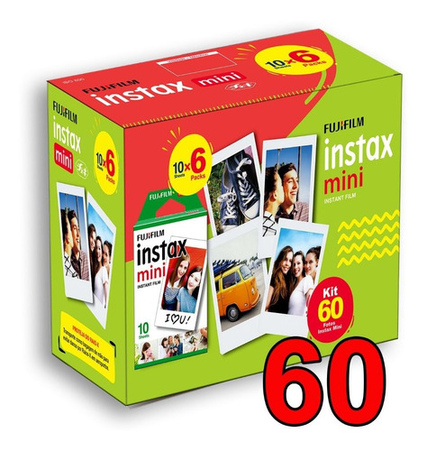 Filme Instax Mini Pack Com 60 Poses Fotos Original