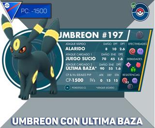 Umbreon Legacy Con Ultima Baza -1500 Liga Super Pokemon