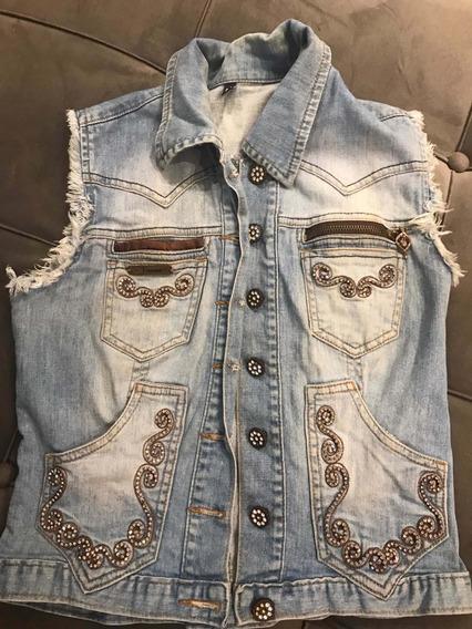 Colete Jeans Marca Renno Com Brilho