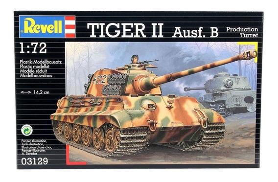 Kit Revell Tanque Tiger Ii Ausf. B 1/72 Alemanha 1944 -03129