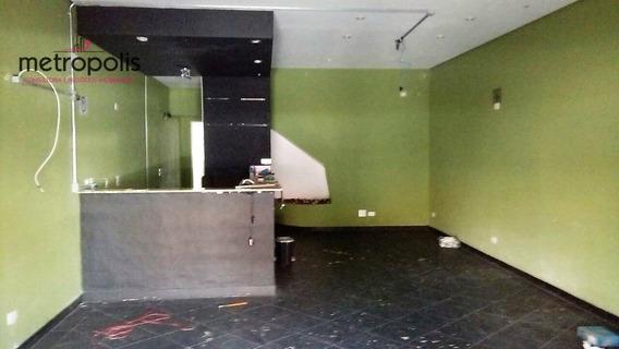 Salão Para Alugar, 100 M² Por R$ 4.500,00/mês - Santa Paula - São Caetano Do Sul/sp - Sl0019