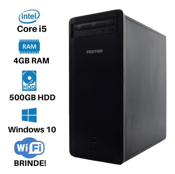 Cpu Positivo I5 Ram 4gb Hd 500gb Win 10 Mega Oferta