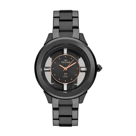 Relógio Technos Feminino Crystal Analógico F03101ac/4p