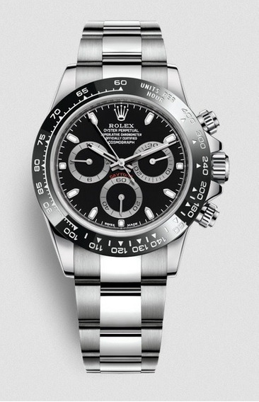 Relógio Masculino Rolex Daytona Prata Vidro Em Safira 100%