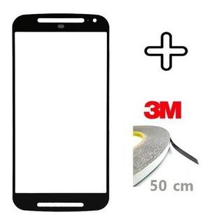 Vidro Tela Lente S/touch Moto G2 Xt1068 Xt1069 + Fita 3m