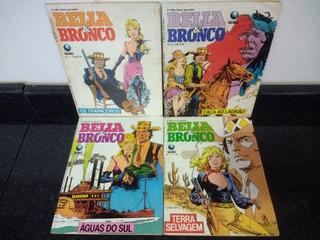 Lote 04 Hq Bella & Bronco 1 Ao 4 - Faroeste Globo 1990 Rjhm
