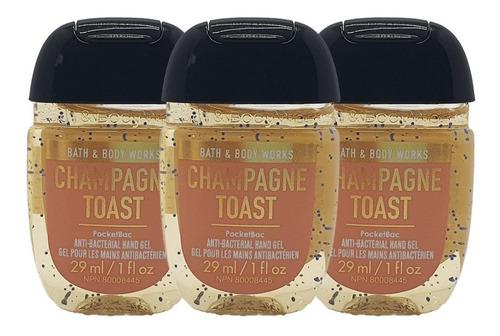 Gel Antibacterial Bath & Body Works Champagne Toast Kit 3pz