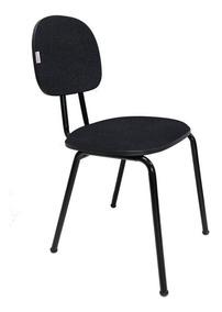Cadeira Fixa Secretária Polo Tecido (j.serrano) Cor Preto