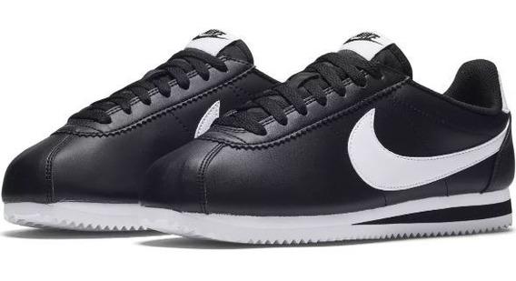 Tênis Nike Cortez Nylon Classic Black White