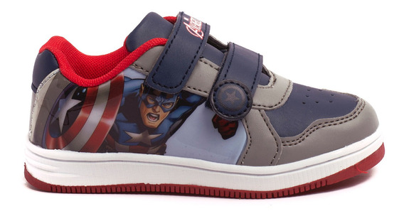 Zapatillas Atomik Marvel Infinity Capitan-mvl007gri- Open Sp