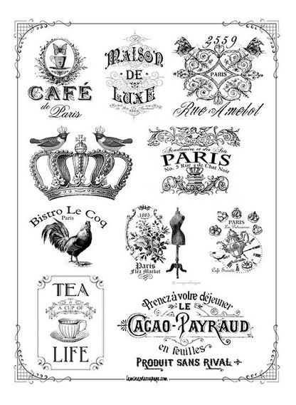Etiquetas Vintage #32! Lámina Para Transferencias 21 X 29 Cm