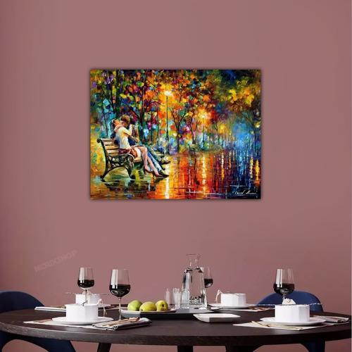 Poster Foto Leonid Afremov 60x80cm Obra Arte Paixao Da Noite