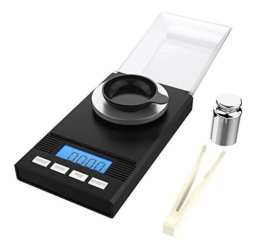 Homgeek Digital Milligram Pocket Scale Mini Joyería Gold Pow