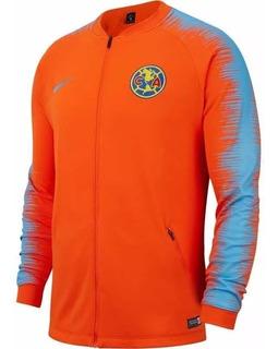 Chamarra Club America Anthem Naranja Nike Original
