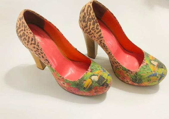 Zapatos De Tacon Dama Talla 7 Marca Andrea Muy Poco Uso