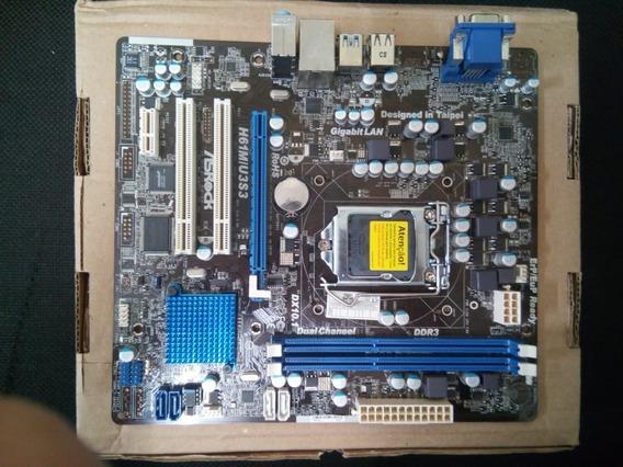 Placa Mãe H61m 1155 Ddr3 Suport Core I7/i5/i3- Hdmi