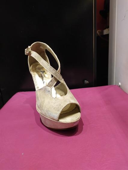Zapato Dama Taco Aguja 12 Cm