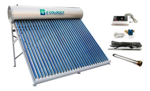 Termotanque Solar 300 Lt+controlador Electronico+resistencia