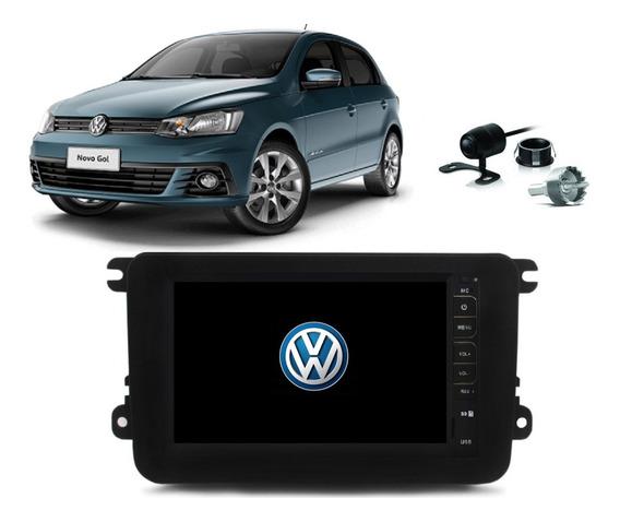 Kit Central Multimidia Mp5 Mp8 Gol G7 + Moldura + Camera Espelhamento Ios E Android