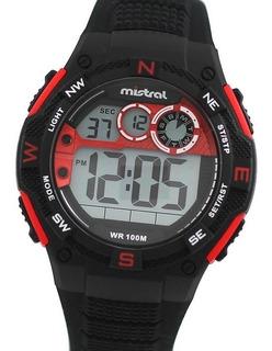Reloj Mistral Gdx-ne Digital Cronografo Alarmas Led 10bar