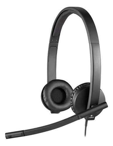 Imagen 1 de 6 de Auriculares Logitech H570 3.5mm + Microfono Incorporado Nnet