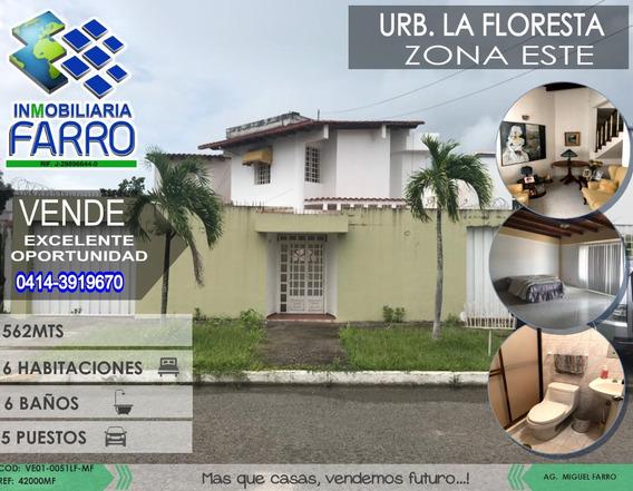 Venta De Casa En Urb La Floresta Ve01-0051lf-mf