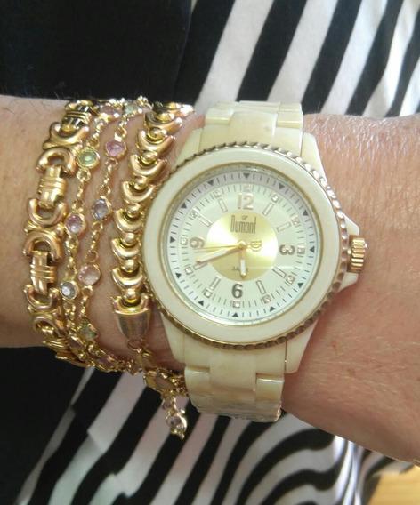 Relógio Feminino Casual Dumont Gp68097x Analógico Quartz