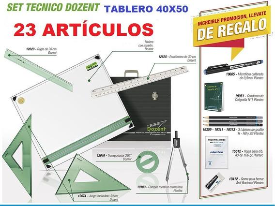 Kit Completo Tablero 40x50 Dozent Técnico Dibujo 23 Artic