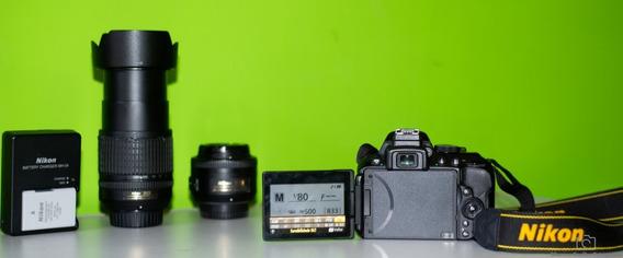 Câmera Nikon D5300 + Lentes