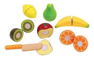 Juego De Frutas Para Cortar Juguete Didáctico De Madera Hape