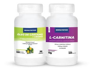 Kit L-carnitina 120 Caps + Óleo De Cartamo Newnutrition