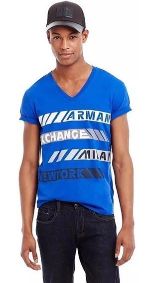 Playera Armani Exchange Premium Reflective Tee V Talla M