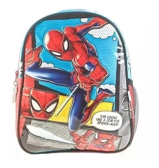 Mochila Spiderman 12 Pulgadas Jardín Escolar Original