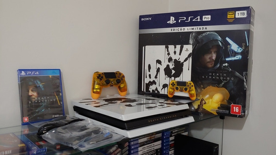 Playstation 4 Ps4 Pro 4k 1tb Edição Limitada Death Stranding