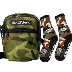 Shoulder Bag Bolsa De Ombro Com Meia Camuflada Black Sheep