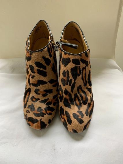 Botas Cortas Simil Leopardo Mujer Importadas Nine West