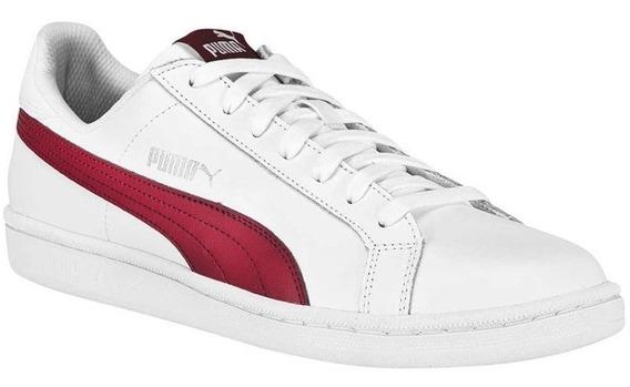Tenis Puma Smash L T39 Branco/vermelho Original