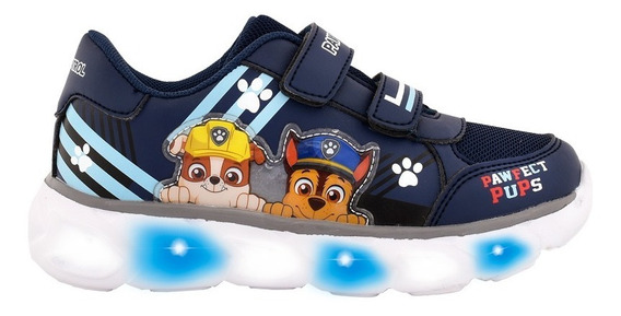 Zapatillas Paw Patrol Con Luces Footy Pwx529