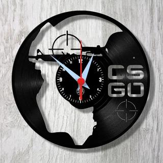 Cs Go Counter Strike Game Pc Classic Relógio Vinil Parede Lp