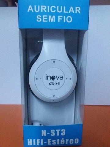 Fone De Ouvido Orig. Inova N-st3 Headphone Sem Fio Bluetooth