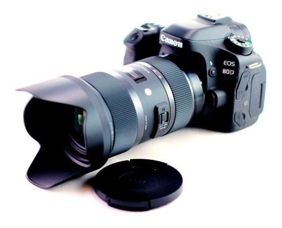 Kit Canon - 80d Corpo + Lente Sigma 18/35 1.8 Art For Canon